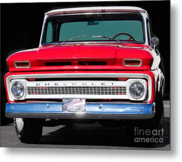 Cool Red Chevy Truck Metal Print