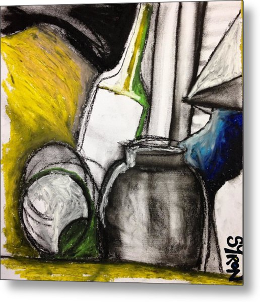 Cool Still Life Metal Print