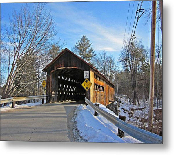 Coombs Covered Bridge Metal Print