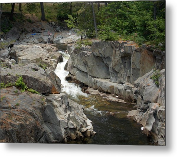 Coos Canyon In Maine Metal Print