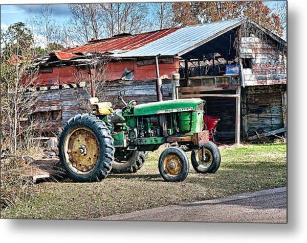 Coosaw - John Deere Tractor Metal Print