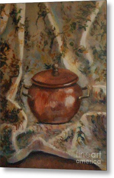 Copper Pot Metal Print by Jana Baker