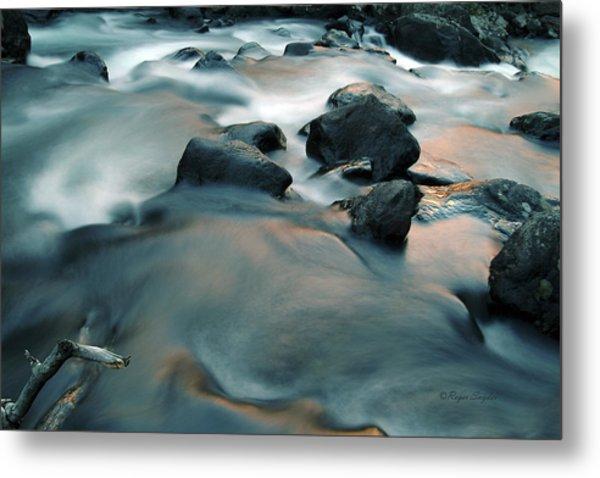 Copper Stream 1 Metal Print