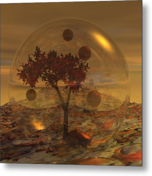 Copper Terrarium Metal Print