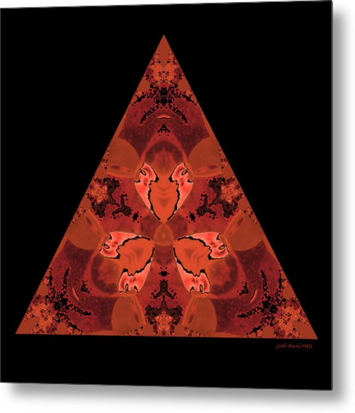 Copper Triangle Abstract Metal Print