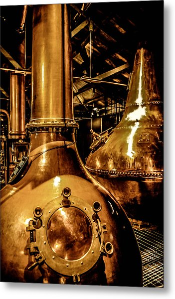 Copper Workplace Metal Print