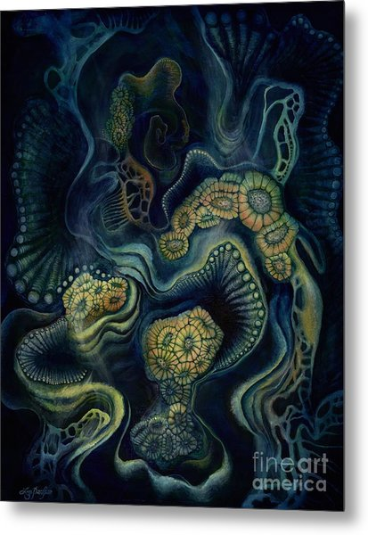 Coral Dive Metal Print