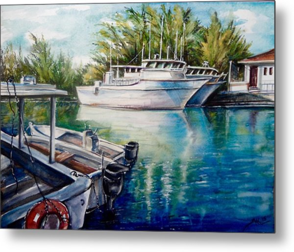 Coral Harbour 3 Metal Print
