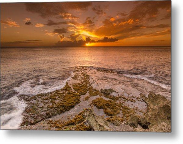 Coral Island Sunset Metal Print