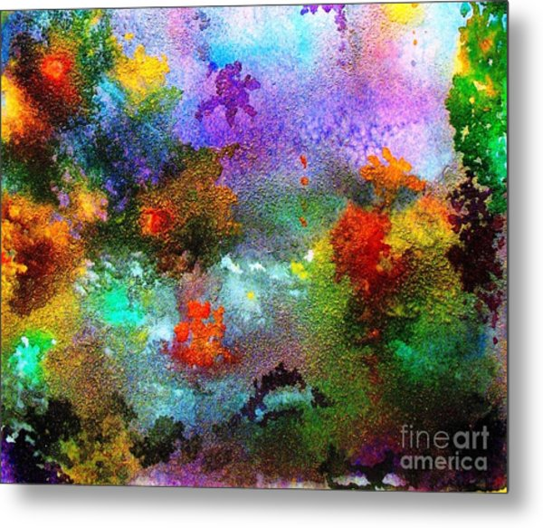 Coral Reef Impression 1 Metal Print