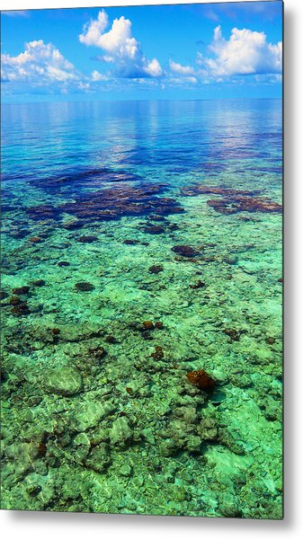 Coral Reef Near The Island At Peaceful Day. Maldives Metal Print