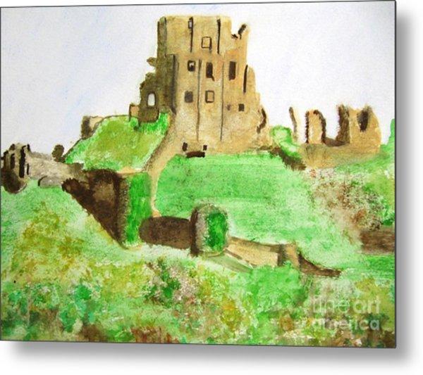 Corfe Castle Metal Print