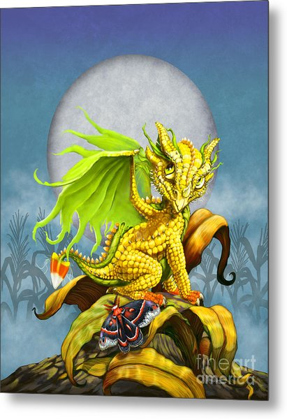 Corn Dragon Metal Print