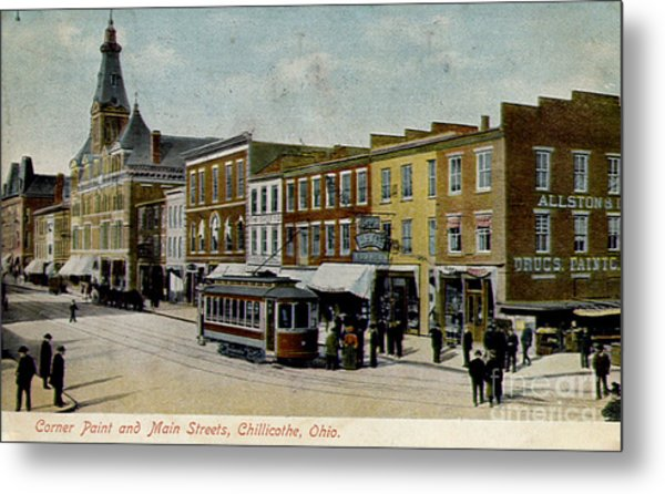 Corner Of Paint And Main - Chillicothe Ohio Metal Print