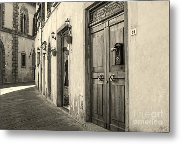 Corner Of Volterra Metal Print