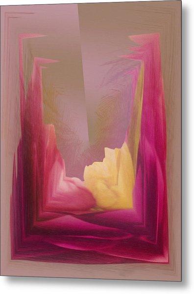 Cornered Yellow Rose Metal Print
