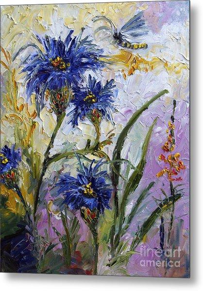 Cornflowers Provence Metal Print