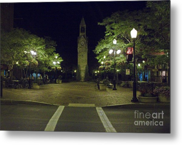 Corning Clock Tower Metal Print