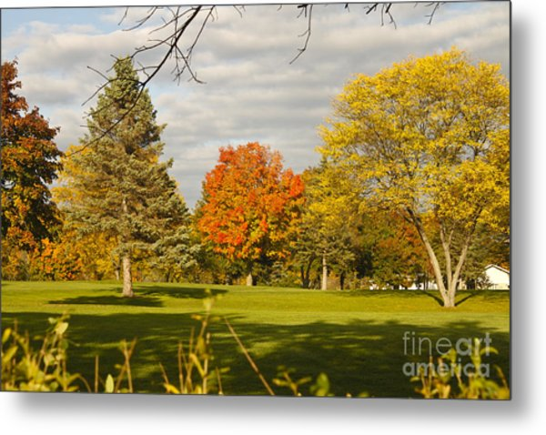 Corning Fall Foliage 5 Metal Print