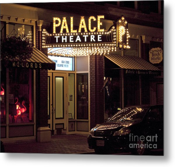 Corning Palace Theatre Metal Print