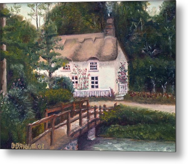 Cornwall Cottage Metal Print