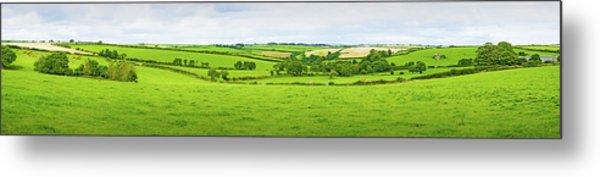 Cornwall Panorama Color Metal Print