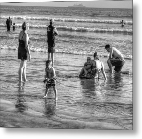 Coronado Beach Tourist Metal Print