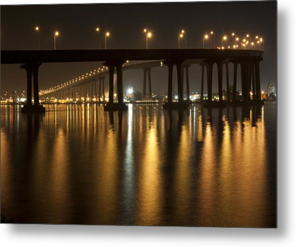 Coronado Bridge At Night Metal Print