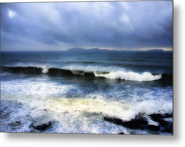 Coronado Islands In Storm Metal Print