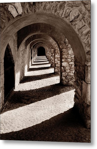 Corridors Of Stone Metal Print
