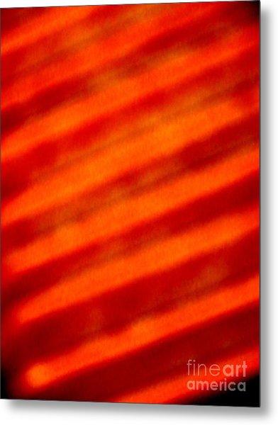 Corrugated Orange Metal Print