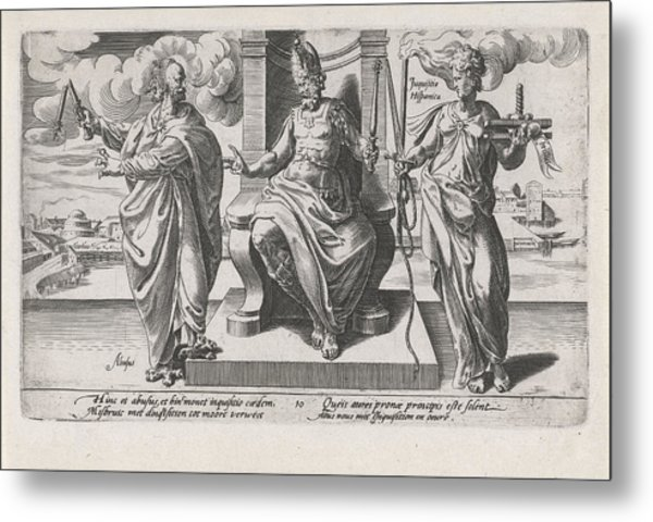 Corrupt Rulers And The Spanish Inquisition Commit Murder Metal Print