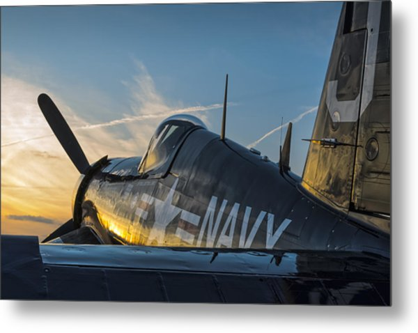 Corsair Sunset Metal Print