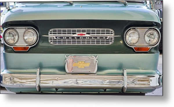 Chevrolet Corvaire95 Truck Grill Metal Print