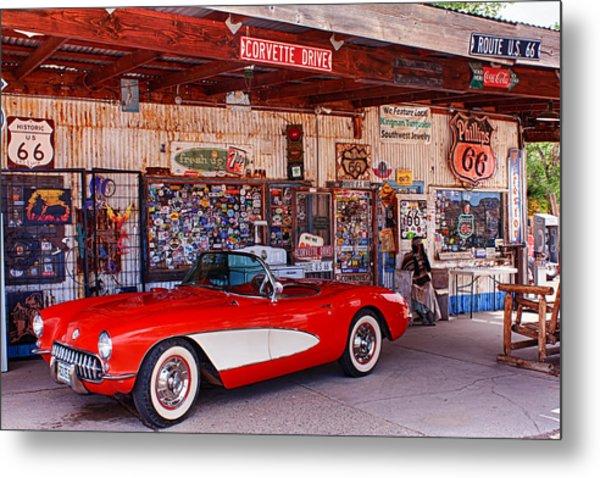 Corvette Drive Rt 66 Metal Print