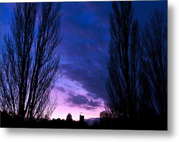 Cosgrove Sunset With Moon Metal Print