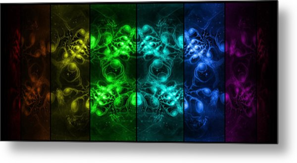 Cosmic Alien Eyes Pride Metal Print