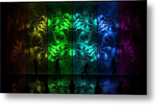 Cosmic Alien Vixens Pride Metal Print