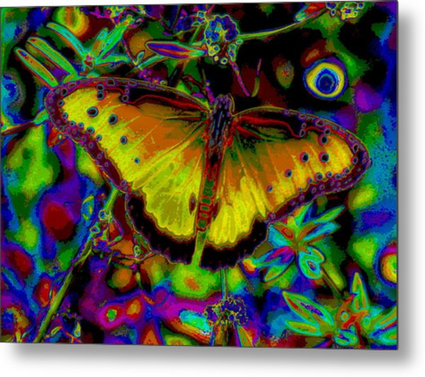 Cosmic Butterfly Metal Print by Rebecca Flaig