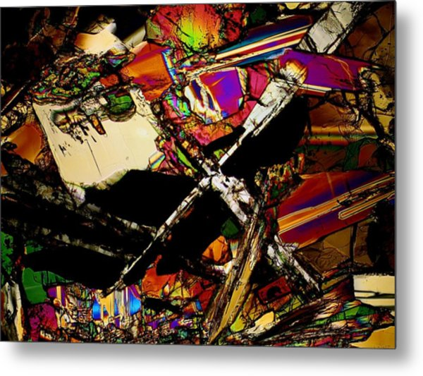 Cosmic Cross Metal Print