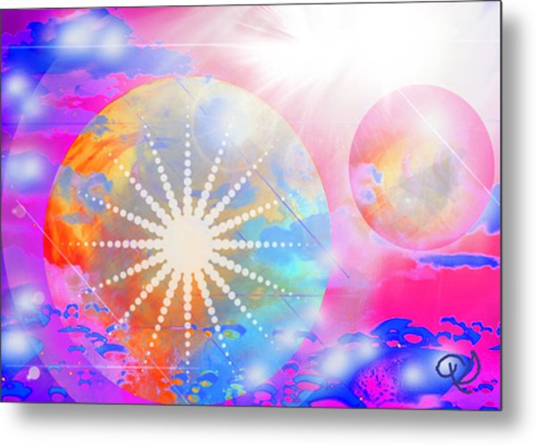 Cosmic Delight Metal Print