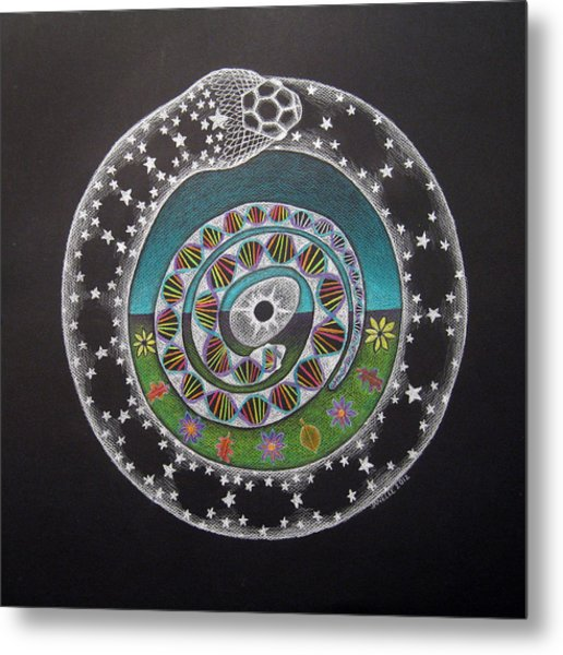 Cosmic Serpent Color Metal Print