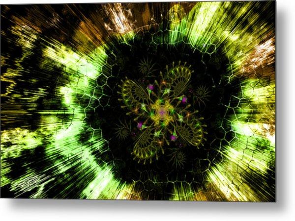 Cosmic Solar Flower Fern Flare Metal Print