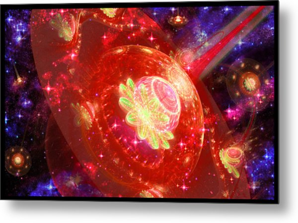 Cosmic Space Station Metal Print