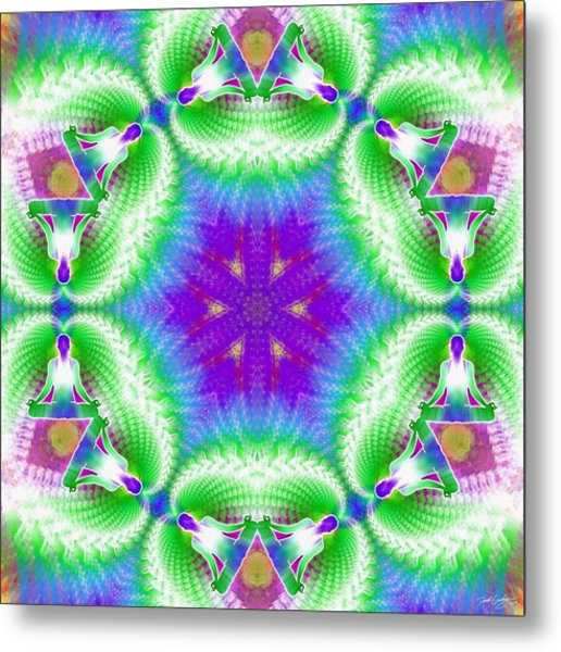 Cosmic Spiral Kaleidoscope 10 Metal Print