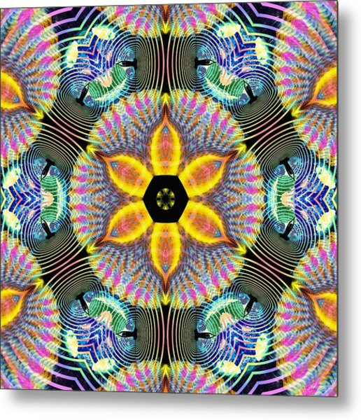 Cosmic Spiral Kaleidoscope 13 Metal Print