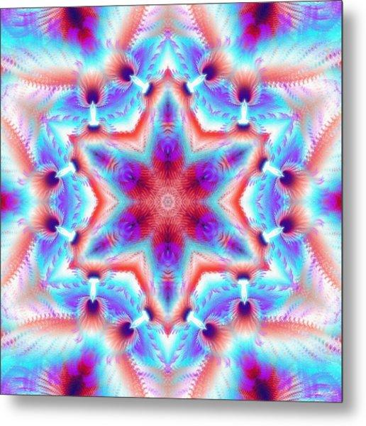 Cosmic Spiral Kaleidoscope 45 Metal Print