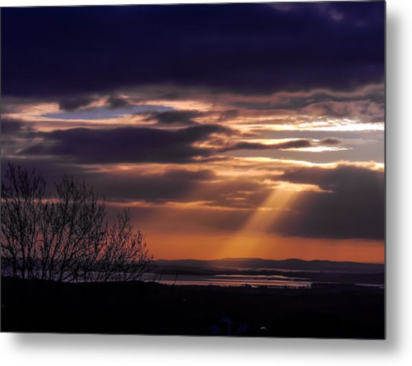 Cosmic Spotlight On Shannon Airport Metal Print