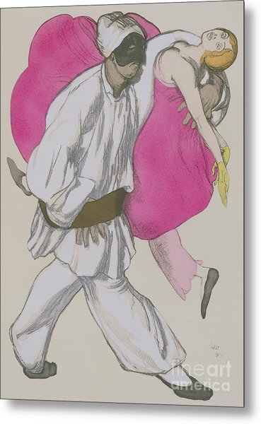 Costume Designs For Pamina And Monostatos In The Magic Flute Metal Print