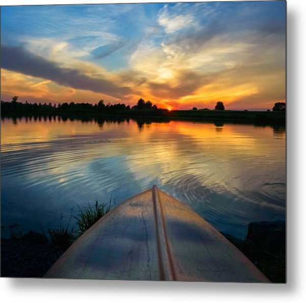 Cottage Country's Silhouette Metal Print